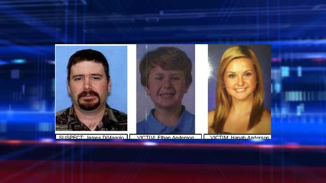 James DiMaggio, Ethan Anderson and Hannah Anderson. (San Diego Sheriff's Dept.)