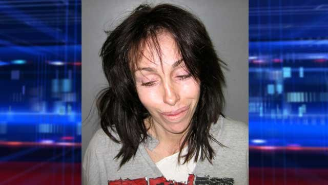 Former Hollywood madam Heidi Fleiss is shown in a booking mug released Feb. 7, 2008, in Pahrump. Authorities say Fleiss was arrested on charges of illegal possession of prescription drugs and DUI. (AP Photo/Nye County Sheriff's Office)