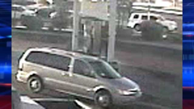 Authorities believe this vehicle was used by the person of interest in the burglaries. (City of Las Vegas)