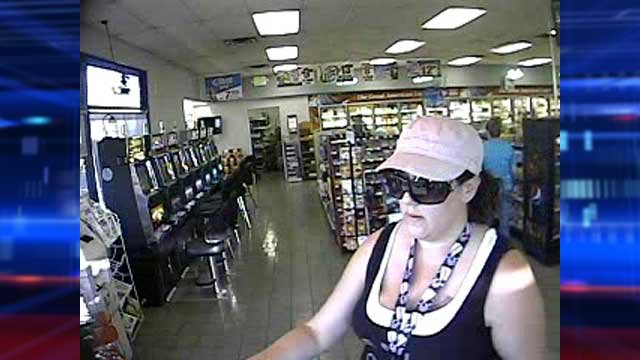 Deputy city marshals identified this woman as a person of interest in multiple car break-ins at the Durango Hills YMCA. (City of Las Vegas)