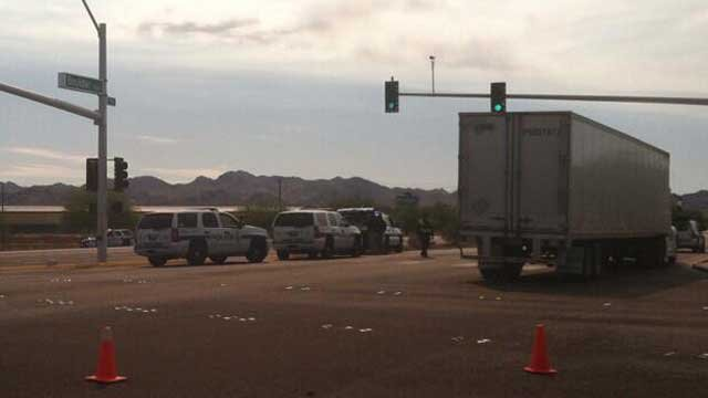 Police closed off Boulder Highway following an officer-involved shooting. (Azenith Smith/FOX5)