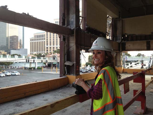 Giada at the construction site. (Caesars Entertainment Las Vegas)
