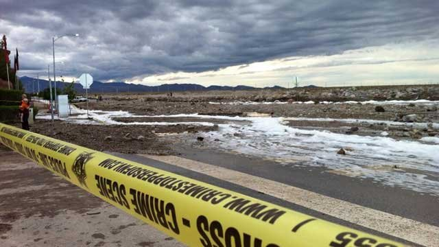 Authorities closed off Grand Teton due to debris left from flood waters.