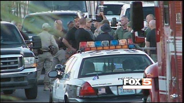 A neighborhood in east Las Vegas was closed for much of Tuesday as SWAT negotiated with an armed woman. (FOX5)