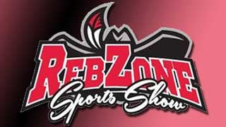 "The official logo of the ""Reb Zone Sports Show."""