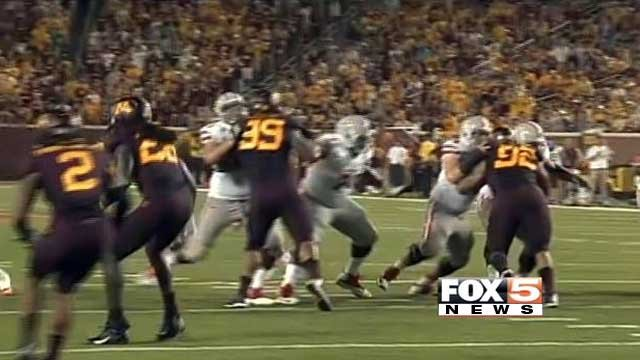 UNLV faces off against Minnesota on Aug. 29, 2013, in their season opener. (FOX5)