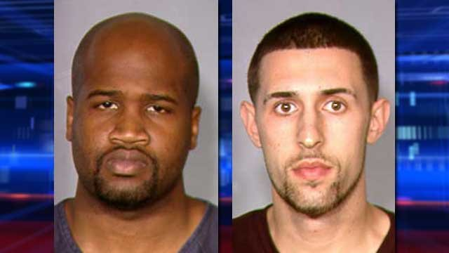 Abraham Austin, left, and Robert Estall, right, were suspected in the armed robbery of a homeowner in west Las Vegas. (LVMPD)