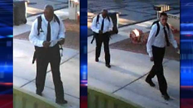 Detectives said two men were seen dressed as Mormon missionaries in order to gain access to a home. (LVMPD)