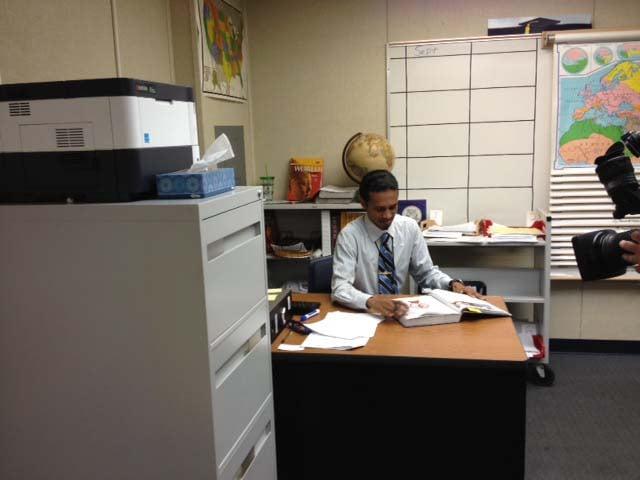 Reuben D'Silva at Rancho High School. (Elizabeth Watts/FOX5)