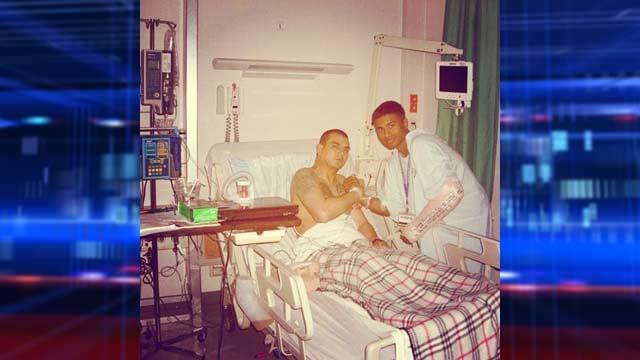 D'Silva at a military hospital. (Reuben D'Silva)