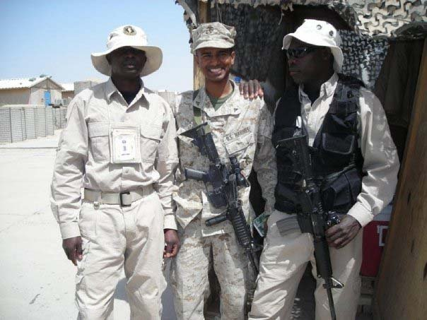 Another shot from D'Silva's stint in the military. (Reuben D'Silva)