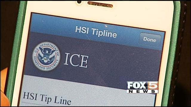 ICE's new app allows users to share tips and receive information about wanted predators. (FOX5)