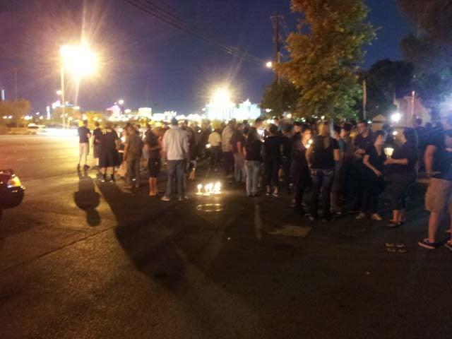 A vigil for Jonathon Matthew Ramirez on Friday night. (Arron Healy/FOX5)