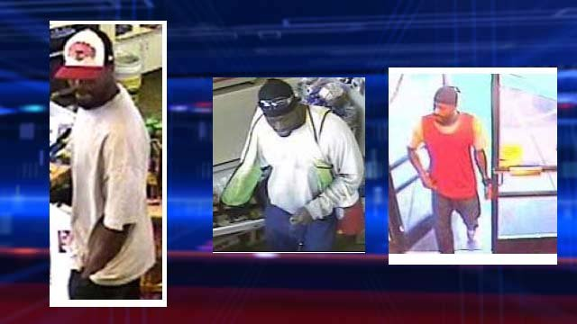 Metro police believe the same man is responsible for at least three businesses robberies in northeast Las Vegas. (LVMPD)