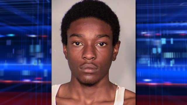 According to an arrest report, William Copeland, 19, claimed a slaying victim said she had a handgun when the suspect opened fire. (LVMPD)