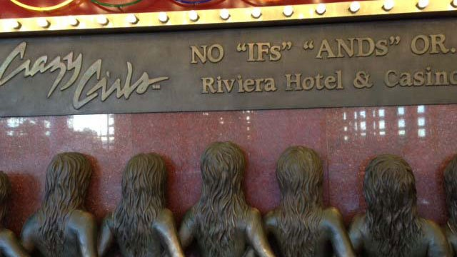The cast of Crazy Girls at the Riviera said it tried to donate proceeds from its 26th anniversary show but was denied. (Elizabeth Watts/FOX5)