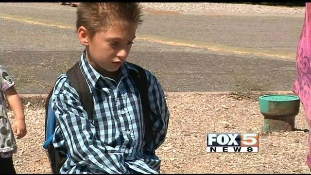 Ryan Riggle has been unable to get to Andrew Mitchell Elementary. Blame the shutdown. (FOX5)