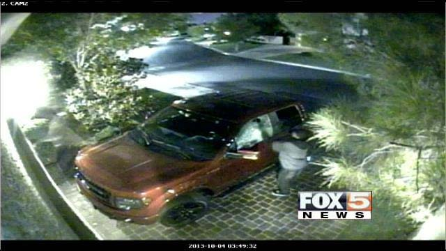 Surveillance video caught auto burglars in action early Friday morning in Summerlin. (FOX5)