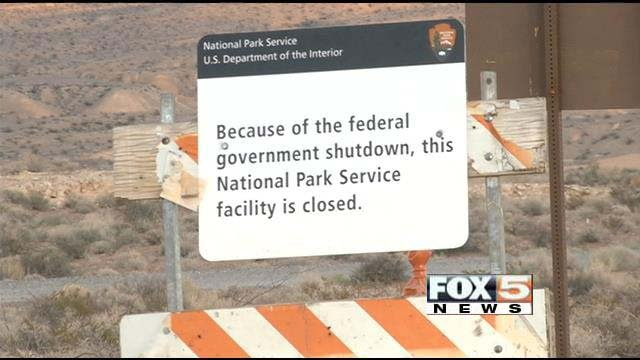 The closure of the Lake Mead National Recreation Area forced dozens of Overton residents from their homes. (FOX5)