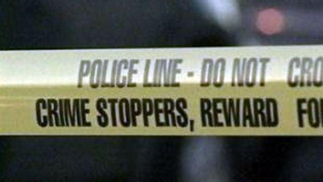 Crime scene tape blocks off a Las Vegas street in this undated image. (File/FOX5)