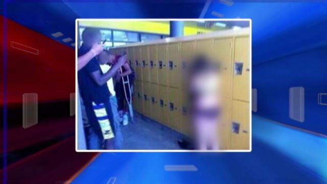 The viral photo, seen here censored, was believed to have taken place on the Durango High School campus, according to students there. (FOX5)