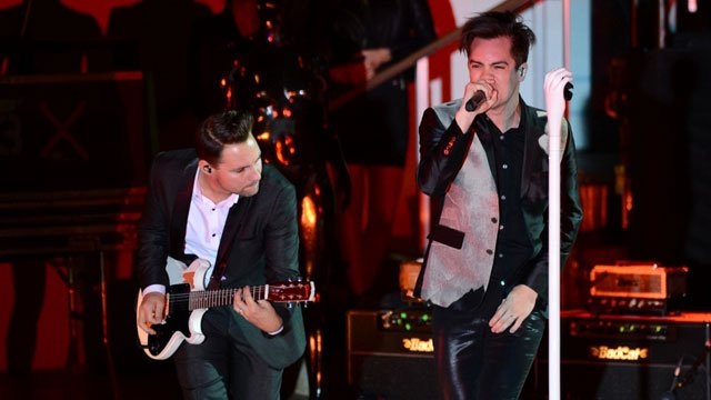 Panic! at the Disco performed on Oct. 11 at the Boulevard Pool at Cosmopolitan of Las Vegas. The Las Vegas band is due to perform in November as part of the Holiday Havoc bill. (Source: Al Powers)