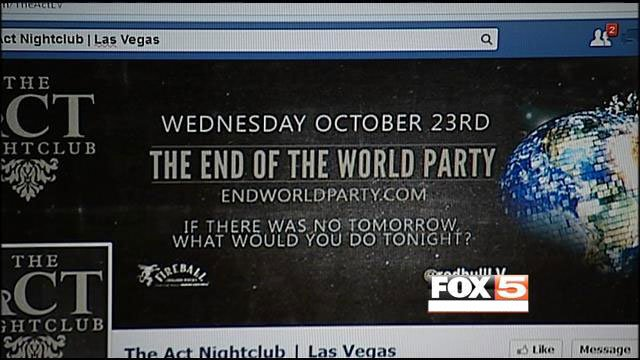 """The Act Nightclub Facebook page remained to advertise an upcoming """"End of the World"""" party on Oct. 23. The club officially closed on Oct. 12. (FOX5)"""