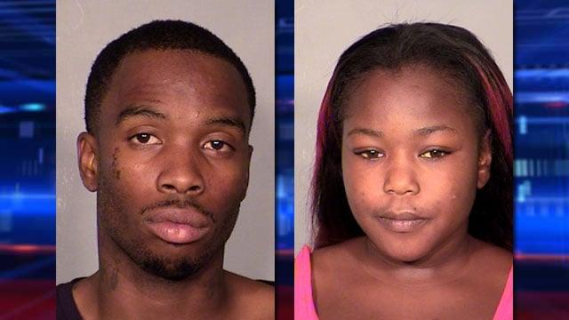 David Walker Jr., left, and Corianna Butler. (LVMPD)