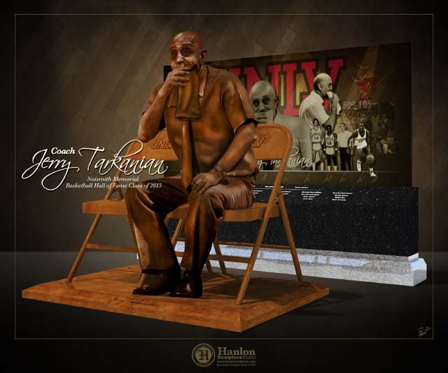 An artist rendering of the Jerry Tarkanian statue which will be dedicated Wednesday, Oct. 30. (UNLV)