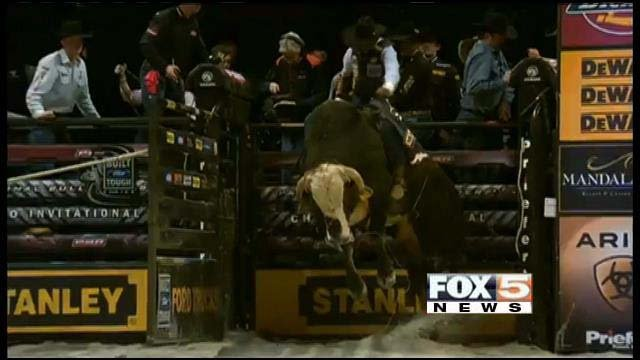 Thousands of fans are in Las Vegas for the PBR World Finals at the Thomas & Mack Center. (FOX5)