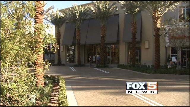 Vehicles will soon be able to drive up to businesses at The District at Green Valley Ranch. (FOX5)