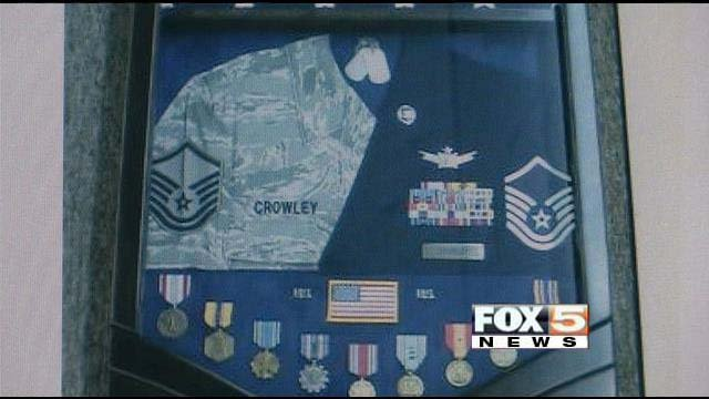 Bob Crowley's Air Force medals and other memorabilia were stolen from his vehicle at  the Hilton Grand Vacations Suites near the Las Vegas Strip. (FOX5)