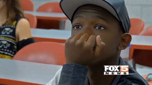 At 14, Ke'Andre Blackston is one of the youngest freshmen in the history of UNLV. (FOX5)