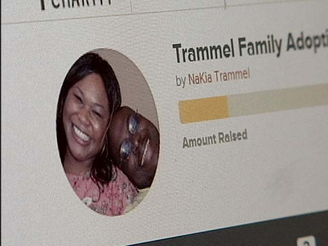 NaKia Trammel and her husband Eric turned to website Pure Charity in order to raise funds to adopt. (FOX5)