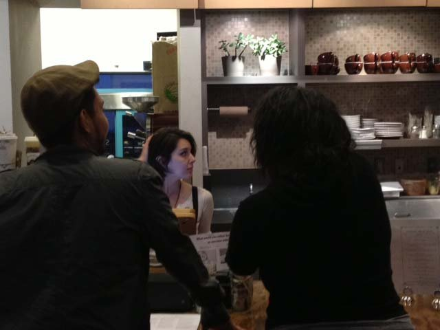 Customers select their beverage of choice at Sunrise Coffee House in Las Vegas. (Elizabeth Watts/FOX5)