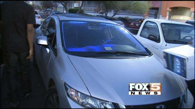 Police recommend always hiding purchases in your trunk rather than placing them in the back seat. (FOX5)