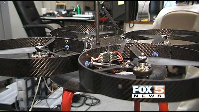 UNLV's research drone. (FOX5)
