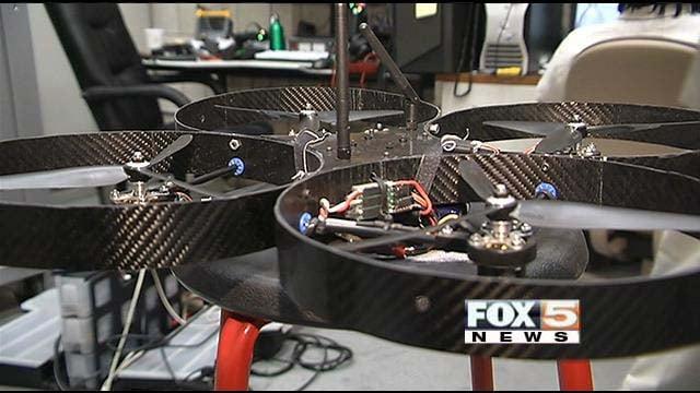 UNLV's research drone. (FOX5)