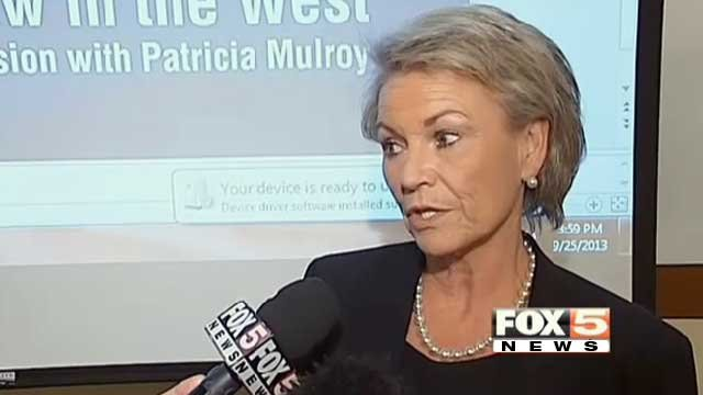 SNWA General Manager Pat Mulroy talks to FOX5 on Sept. 25, 2013. (FOX5)