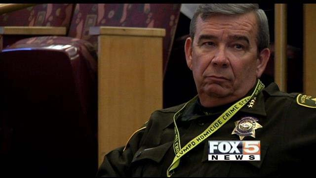 Metro Sheriff Doug Gillespie on Tuesday presented a revised tax initiative to the Clark County Commission. (FOX5)