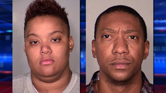 Brittanie Merritt-Durwell, left, and Joshua Youngblood, right. (Source: LVMPD)
