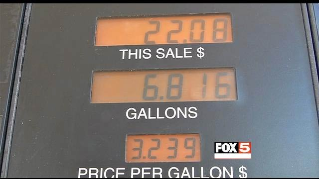 Starting Jan. 1, 2014, Clark County enacted a 3.4-cent fuel tax to pay for road improvements. (FOX5)