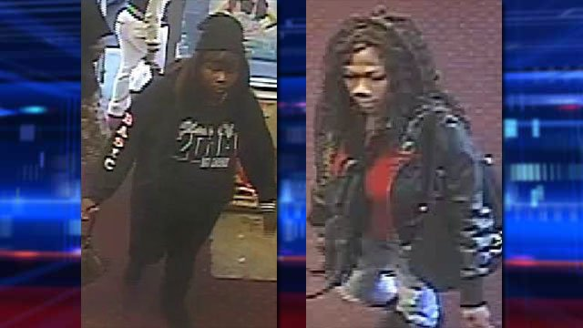 Police said two women took items from a store and struggled with a worker before leaving with the stolen merchandise in December 2013. (Source: LVMPD)