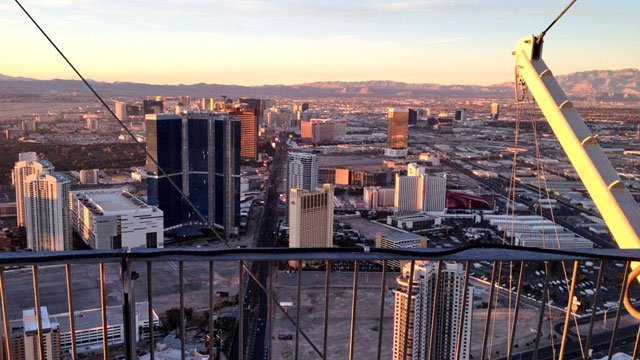 This is the view of the Las Vegas Strip from atop the 1,149-foot tall Stratosphere Tower. (Shannon Moore/FOX5)
