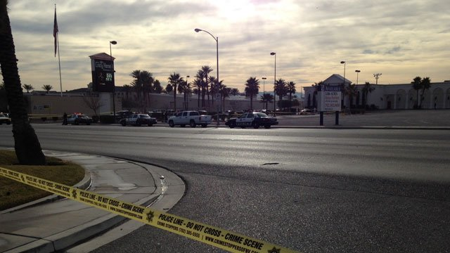 Police said a man was found shot outside of the Crazy Horse III strip club on Jan. 11, 2014. (FOX5)