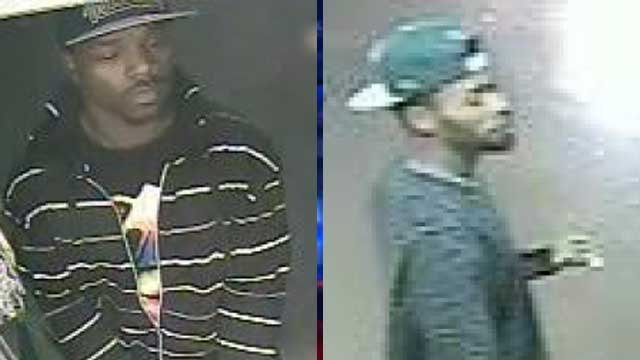 Police released these images of the men accused of robbing a small business on the Las Vegas Strip on Dec. 27, 2013. (Source: LVMPD)