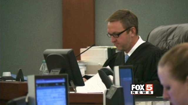 Justice of the Peace Eric Goodman listens to proceedings in a Las Vegas courtroom in this undated image. (File/FOX5)
