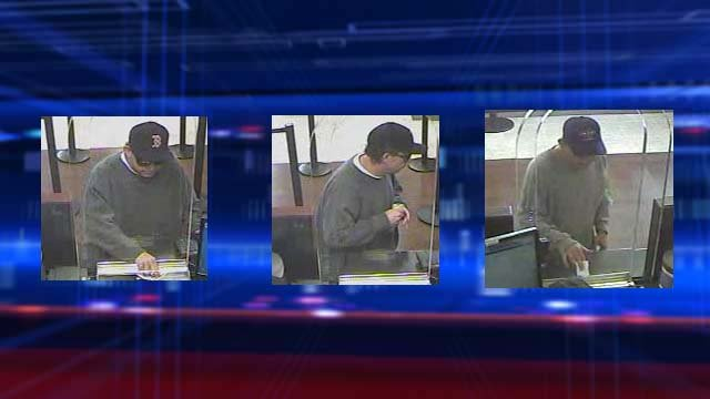 Surveillance stills from a bank robbery in the area of Flamingo and Pecos roads on Jan. 29, 2014. (Source: LVMPD)