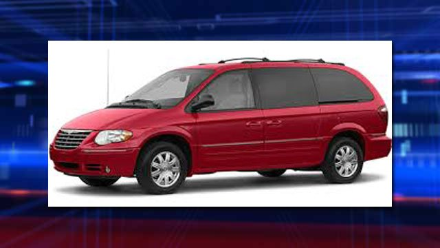 Police said a red Chrysler Town and Country minivan, like the one seen in this photo, was taken during a home break-in. (Source: LVMPD)