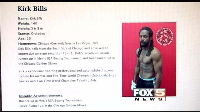 Kirk Bills' boxing profile on the Super Judah Productions website, since removed. (FOX5)